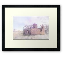 Ruin by the river Framed Print