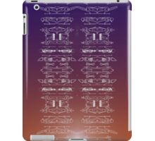 EGYPTIAN GODS PATTERN GRADIENT iPad Case/Skin