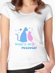 What's up pussycat Women's Fitted Scoop T-Shirt