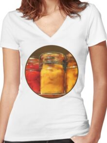 Canned Tomatoes and Peaches Women's Fitted V-Neck T-Shirt
