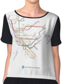 new york subway Chiffon Top