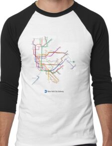 new york subway Men's Baseball ¾ T-Shirt