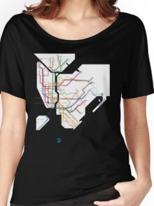 new york subway Women's Relaxed Fit T-Shirt