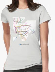 new york subway Womens Fitted T-Shirt