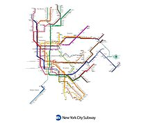 new york subway Photographic Print
