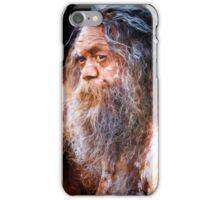 Aboriginal fullblood portrait iPhone Case/Skin