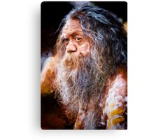 Aboriginal fullblood portrait Canvas Print