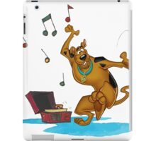 scooby music dance iPad Case/Skin