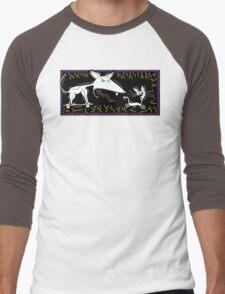 Dog Chasing Cat Men's Baseball ¾ T-Shirt