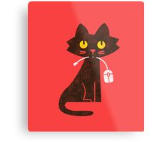 Hungry Hungry Cat Metal Print