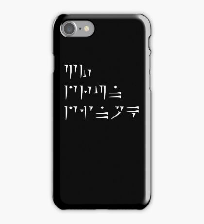 Zu'u drun dinok - I bring Death - IPod/IPhone Cases iPhone Case/Skin