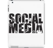 Social Media Text with Symbols on White Background iPad Case/Skin