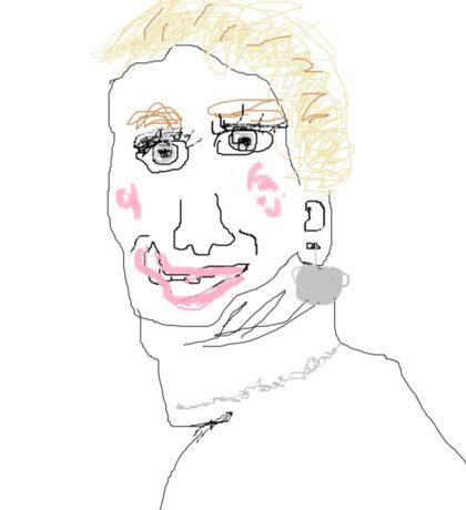 Jennifer Lawrence Bad Drawing Sticker
