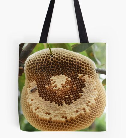 Bees on honycomb Tote Bag