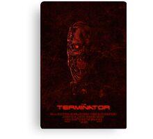 """Movie Poster - """"TERMINATOR"""" (v1) Canvas Print"""