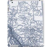 Alberta Canada Map iPad Case/Skin