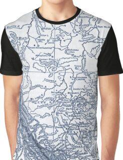 Alberta Canada Map Graphic T-Shirt