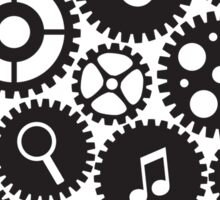 Machine Gears with Social Media Symbols  Sticker