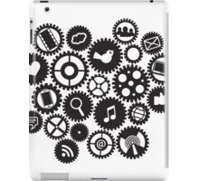 Machine Gears with Social Media Symbols  iPad Case/Skin
