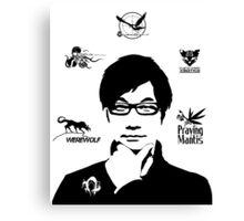 Hideo Kojima Metal Gear Canvas Print