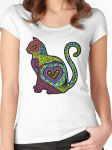 Cat Pop Women's Fitted Scoop T-Shirt