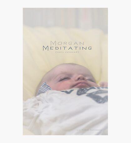 Morgan Meditating 2 © Vicki Ferrari Photographic Print