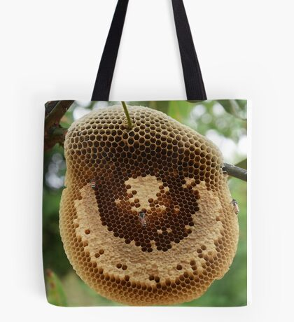 Bees on honeycomb Tote Bag