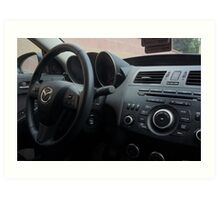 Mazdaspeed 3 Steering Wheel Art Print