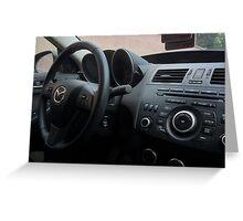 Mazdaspeed 3 Steering Wheel Greeting Card