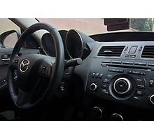 Mazdaspeed 3 Steering Wheel Photographic Print