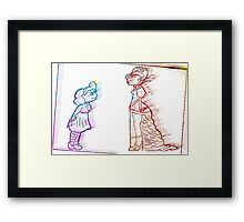 Alice and the Queen Framed Print