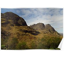 The Three Sisters, Glen Coe Poster
