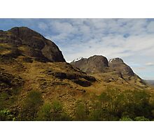 The Three Sisters, Glen Coe Photographic Print