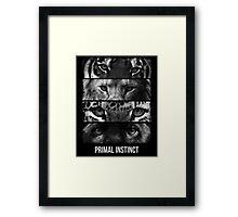 Primal Instinct - version 2 - with text Framed Print