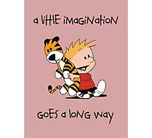 Imagination - Calvin and Hobbes Photographic Print