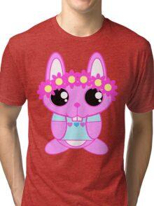 Kawaii Spring Bunny  Tri-blend T-Shirt