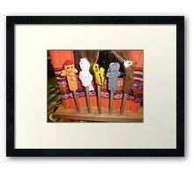 *Finger Puppets - Creswick Knitting Mills* Framed Print