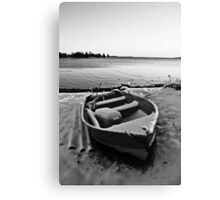 Boat in the Winter Canvas Print