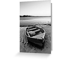 Boat in the Winter Greeting Card