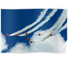The Red Arrows at RAF Waddington International Airshow Poster