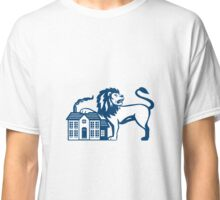 Angry Lion Paw on House Isolated Retro Classic T-Shirt