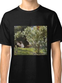 Peder Severin Kroyer - Roses. Garden landscape: garden view, Woman, blossom, nature, botanical park, floral flora, wonderful flowers, Rose, cute plant, garden, flower Classic T-Shirt