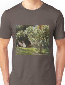 Peder Severin Kroyer - Roses. Garden landscape: garden view, Woman, blossom, nature, botanical park, floral flora, wonderful flowers, Rose, cute plant, garden, flower Unisex T-Shirt