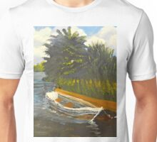 Boat on Norford Broads Unisex T-Shirt