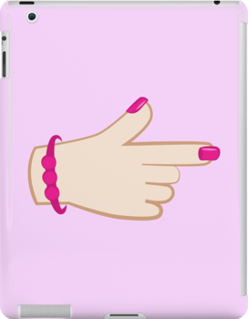 girly hand pointing right (with cute fingernails in pink) by jazzydevil