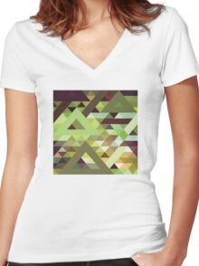 Cryptonite Women's Fitted V-Neck T-Shirt