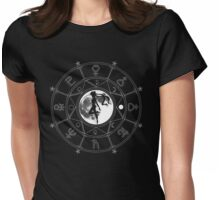 Occult Moon Womens Fitted T-Shirt