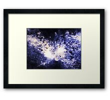 When Galaxies Collide (Sodalite) Framed Print