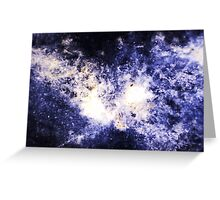 When Galaxies Collide (Sodalite) Greeting Card