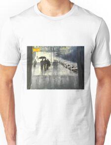 Rainy City Street Unisex T-Shirt
